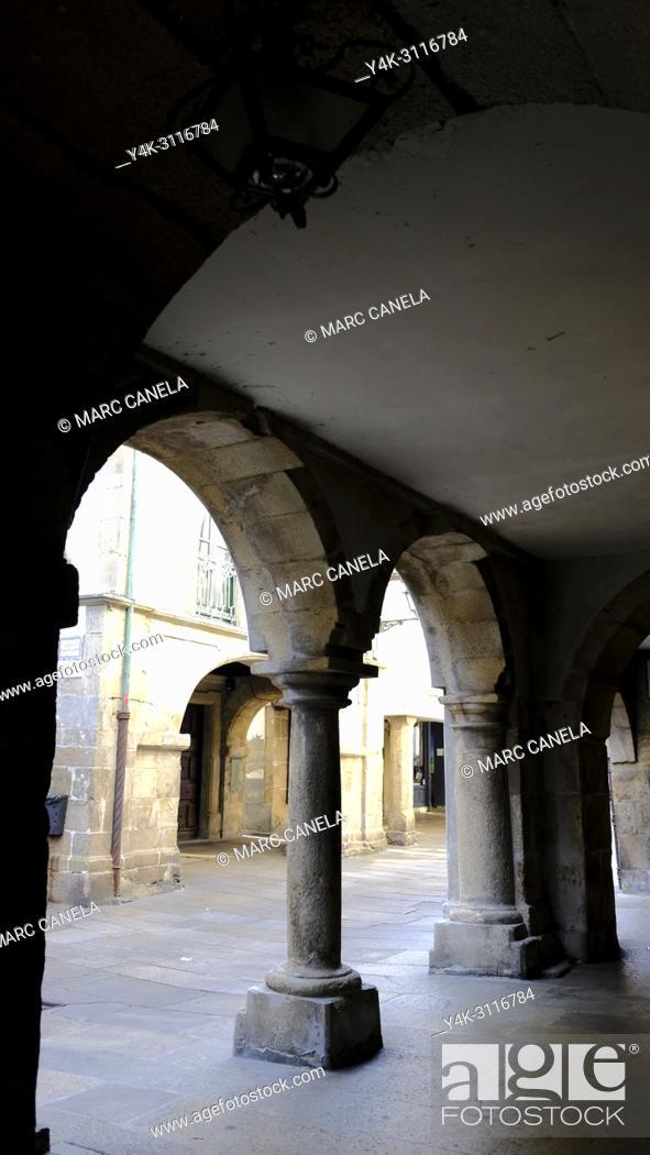 Stock Photo: Santiago de compostela. Galicia, Spain, Europe.