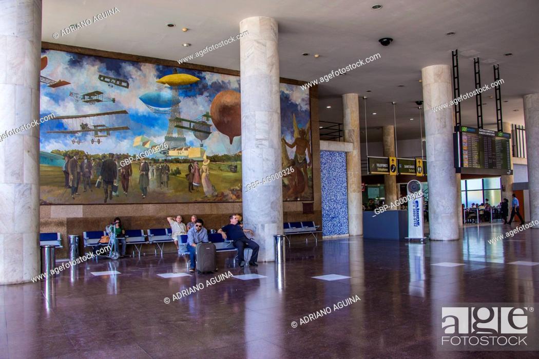 Santos Dumont Airport Capital Rio De Janeiro Brazil Stock Photo
