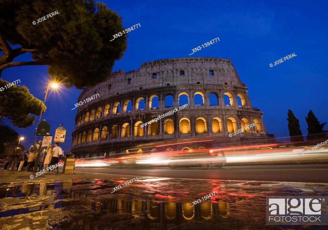 Stock Photo: The Colosseum, Rome, Lazio, Italy, Europe.