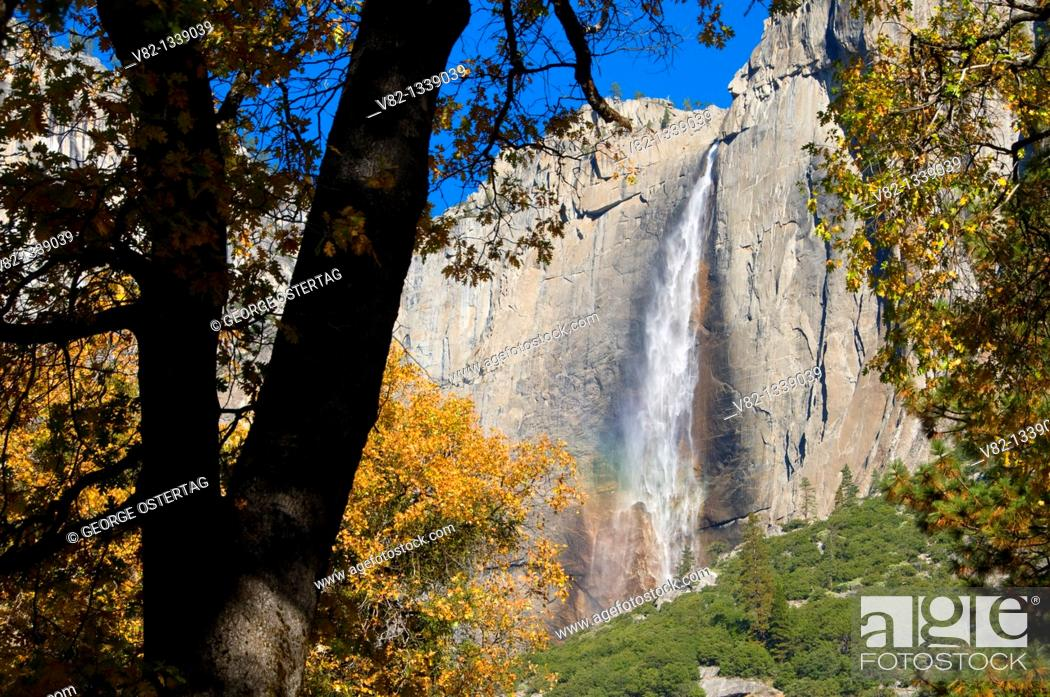 Stock Photo: Upper Yosemite Falls, Yosemite National Park, CA.