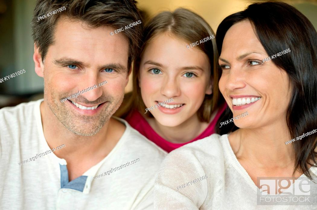 Stock Photo: Portrait of a happy family.