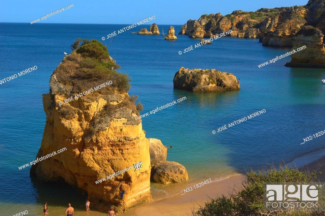 Stock Photo: Lagos, Dona Ana Beach, Praia da Dona Ana, Algarve, Portugal, Europe.