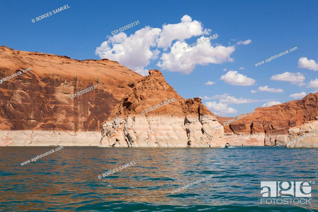 Stock Photo: Lake Powell, in Glen Canyon in Utah and Arizona.