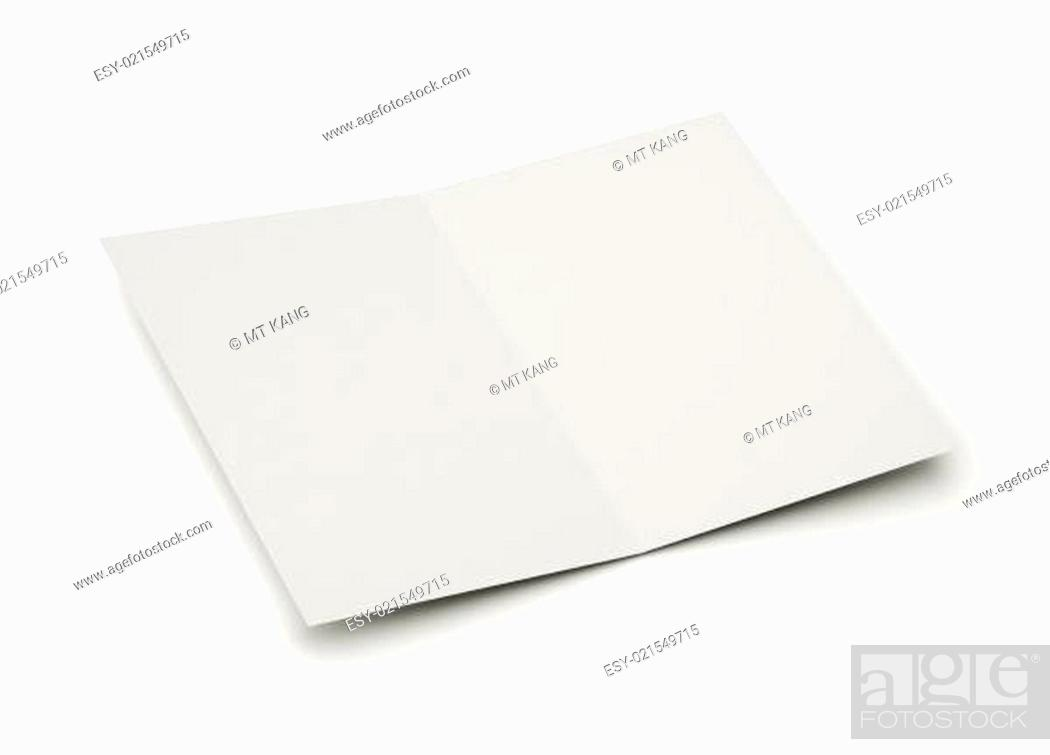 Stock Photo: blank card for message.