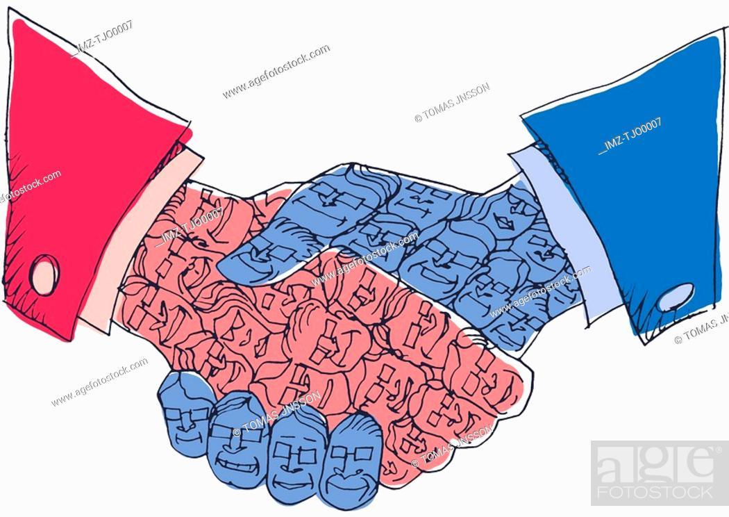 Stock Photo: Corporate handshake.