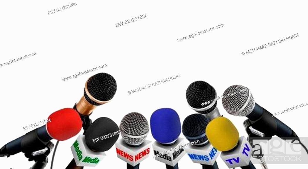 Imagen: Press Conference microphones.