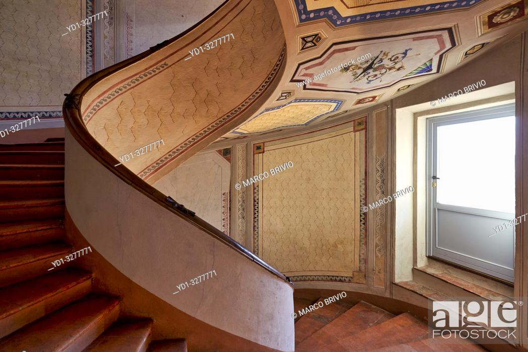 Stock Photo: Vignola, Modena, Emilia Romagna, Italy. Barozzi Palace (Palazzo Barozzi) is an imposing palace completed in 1566-67. It rises in front of the fortress.