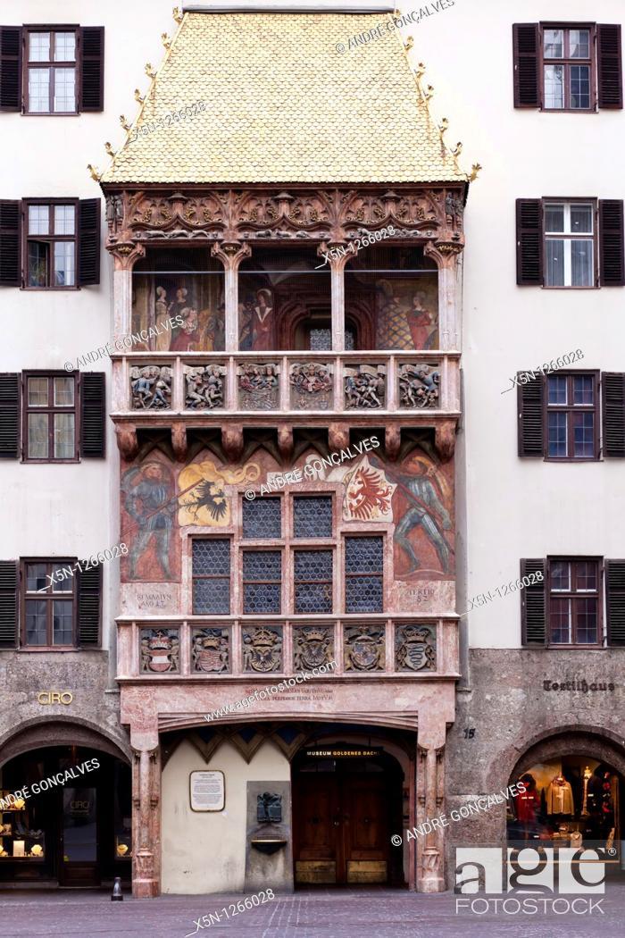 Stock Photo: Golden Roof, Innsbruck, Austria.