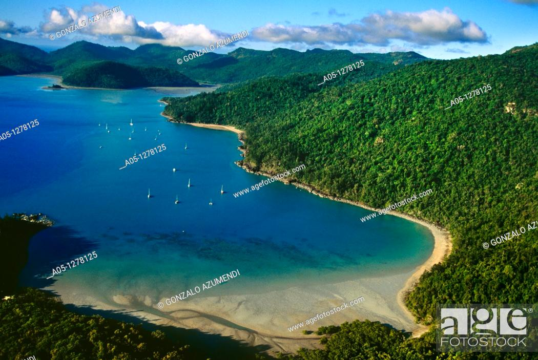 Stock Photo: Whitsunday Islands, Great Barrier Reef, Queensland, Australia.