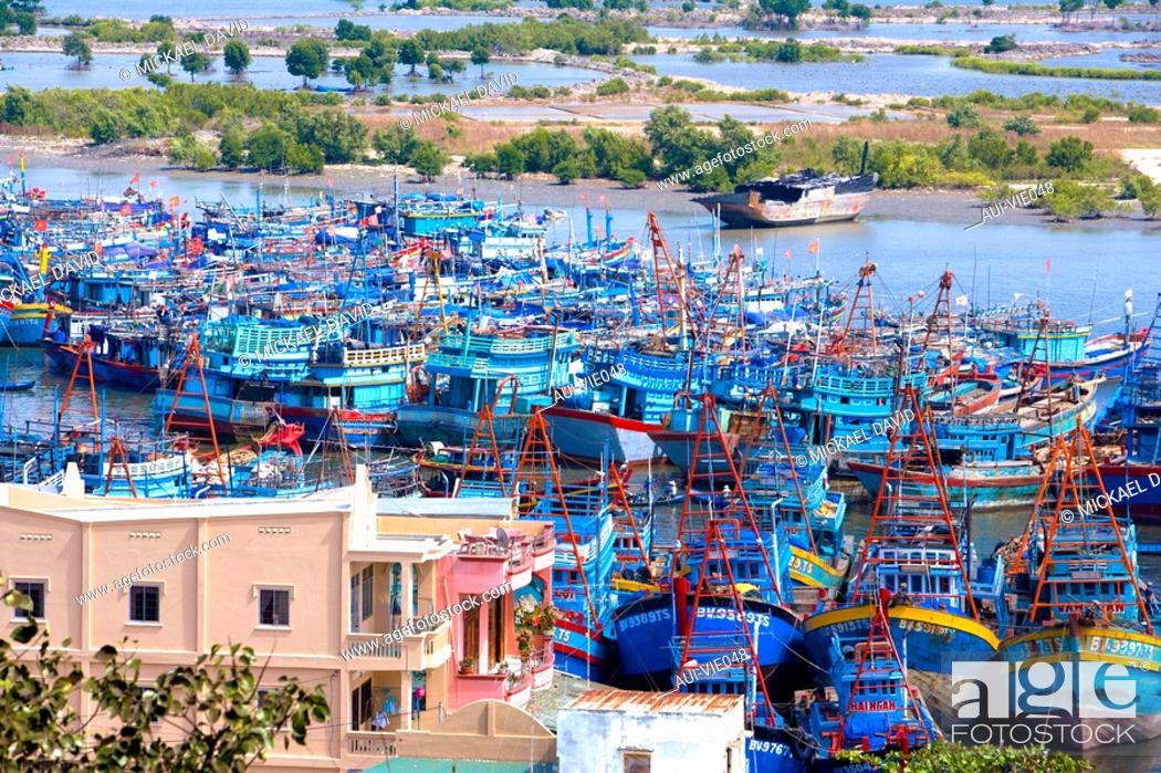 Stock Photo: Vietnam - The South - Vung Tau Cape Saint Jacques - Fishermen's district.