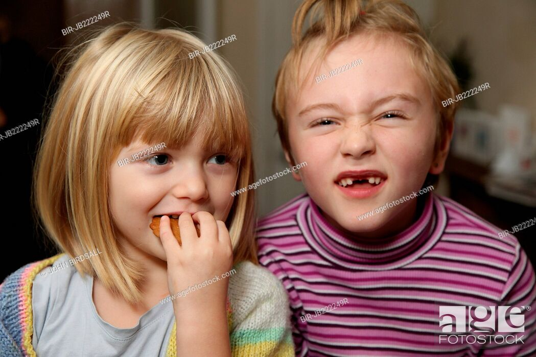 Stock Photo: Children making funny faces.