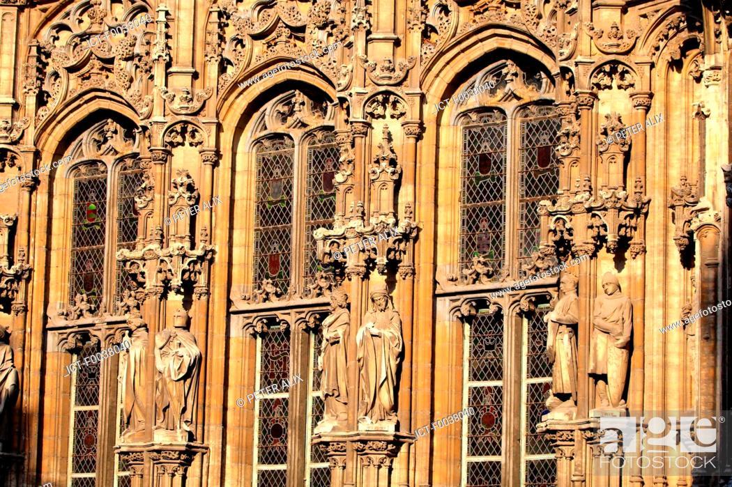 Stock Photo: Belgium, Ghent, Saint Nicholas church.