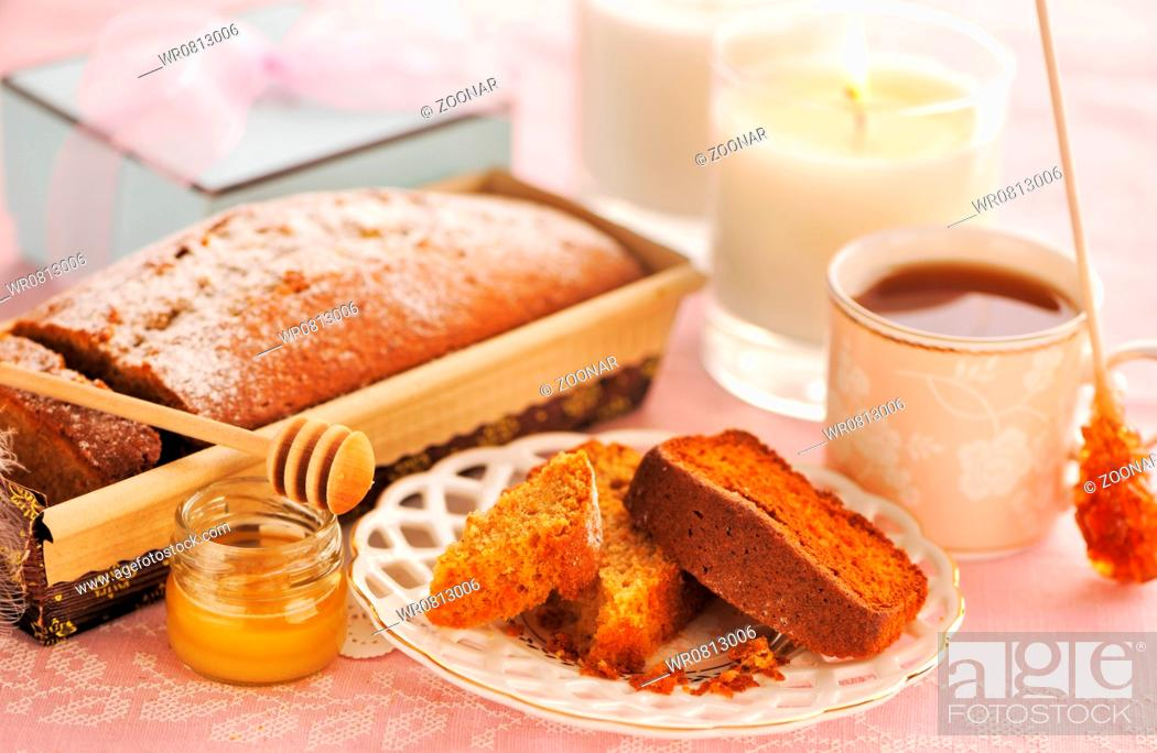 Stock Photo: Fruit cake.