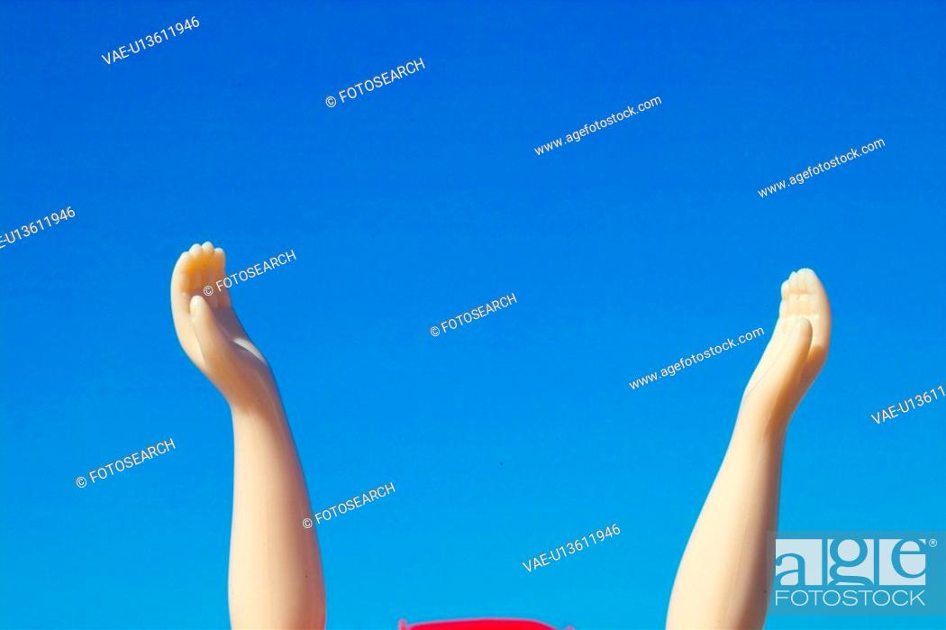 Stock Photo: people, hand, body part, person, doll.