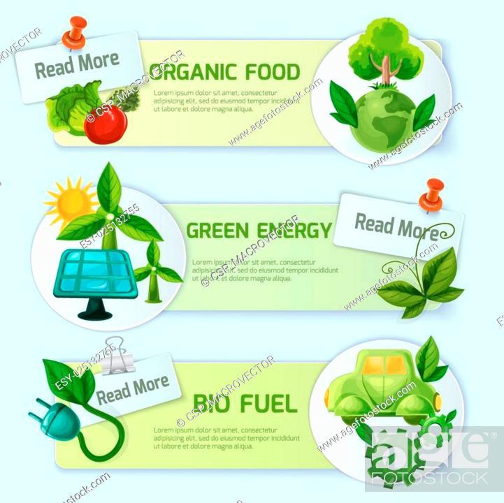 Stock Vector: Ecology Banner Set.