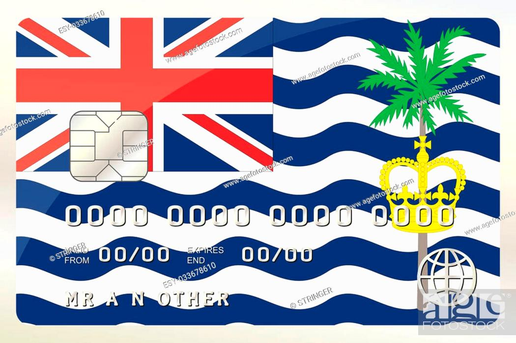 Stock Photo: An Illustration of a Credit Card with the Card being the flag of British Indian Ocean Territory.