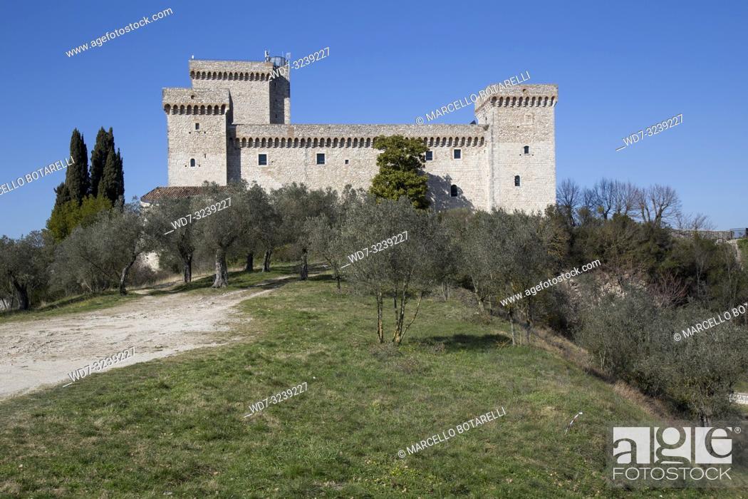 Stock Photo: Rocca Albornoziana in Narni, near Terni, Umbria, Italy.
