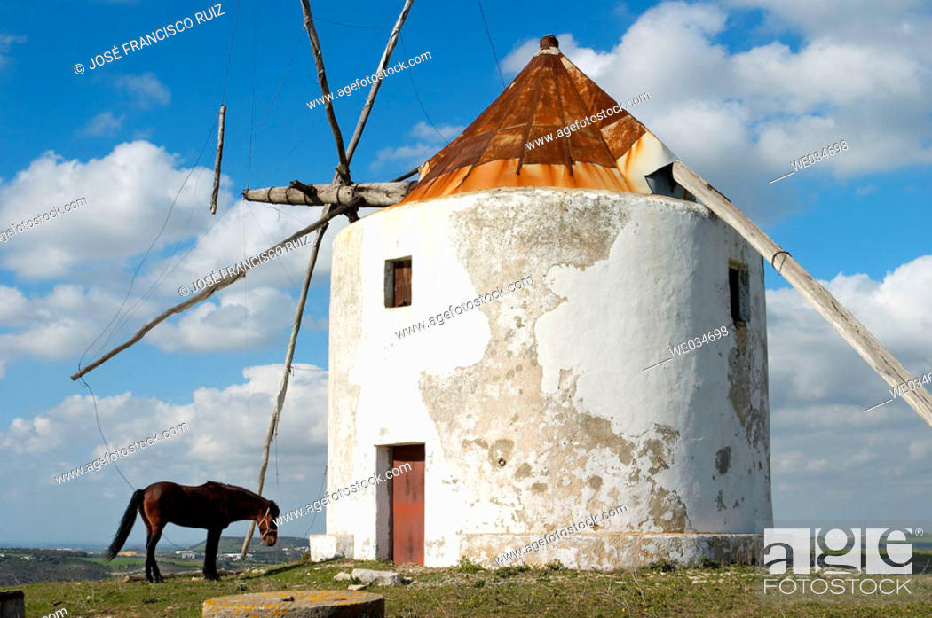 Stock Photo: Windmill, Vejer de la Frontera. Cádiz province, Andalusia, Spain.