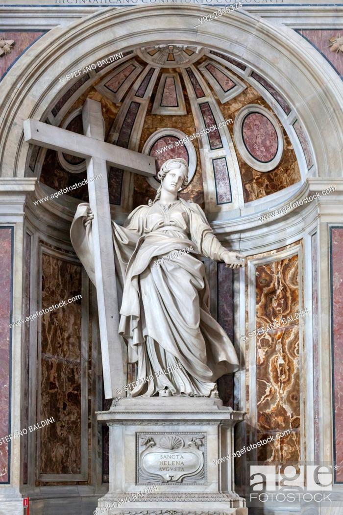 Imagen: Statue of St. Helena in St. Peter's Basilica, Vatican City, Italy.