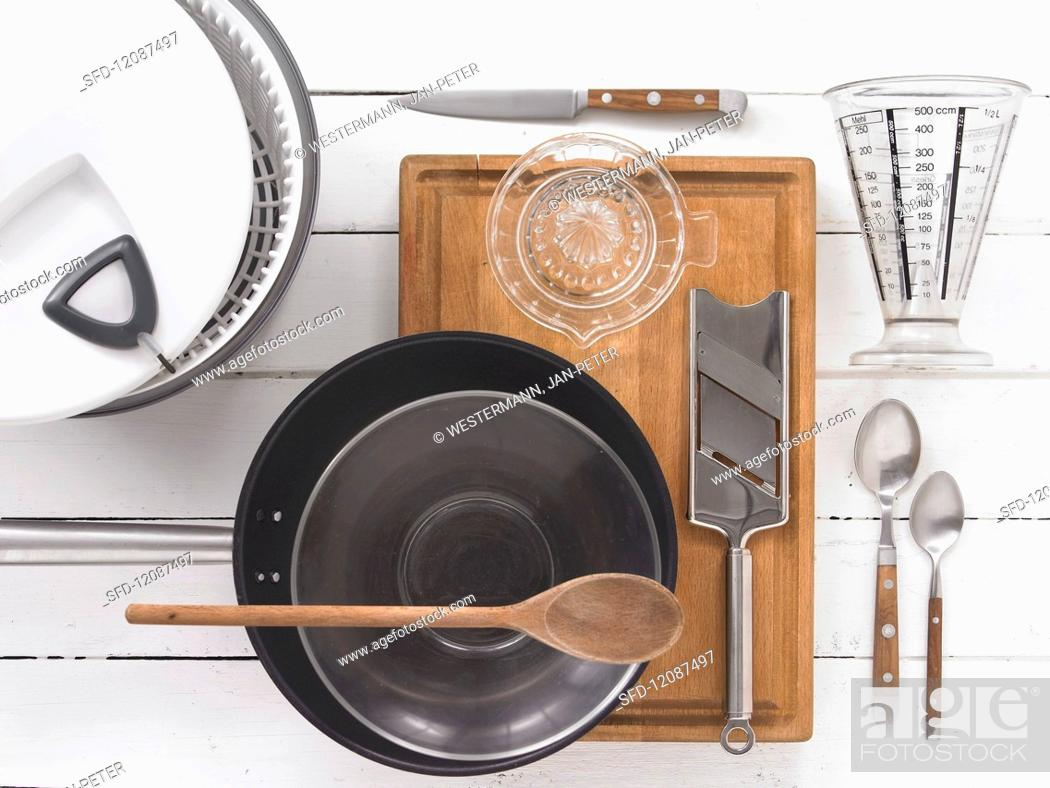 Stock Photo: Cooking implements.