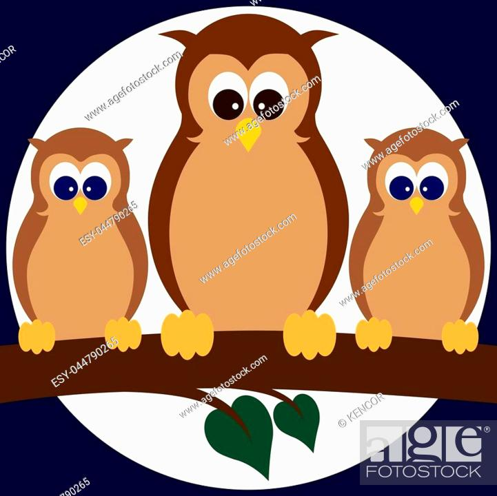 Three Cartoon Owls Resting On A Tree Limb Stock Vector Vector And Low Budget Royalty Free Image Pic Esy 044790265 Agefotostock Find images of cartoon tree. 2