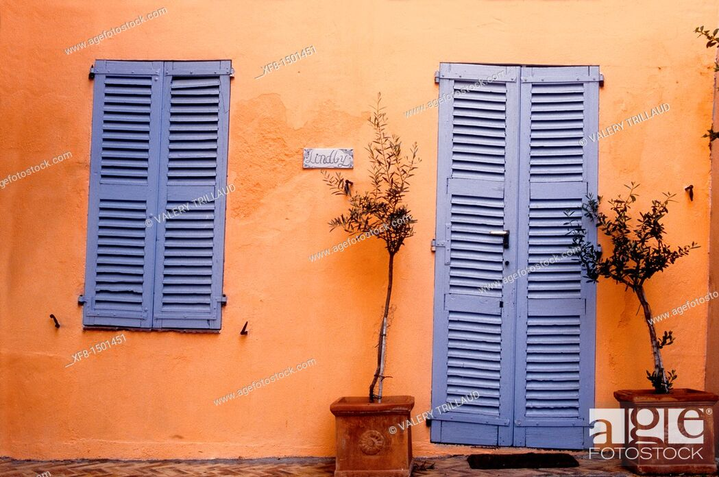 Stock Photo: Medieval village of Roquebrune-sur-Argens, Var, Provence-Alpes-Côte d'Azur, France.