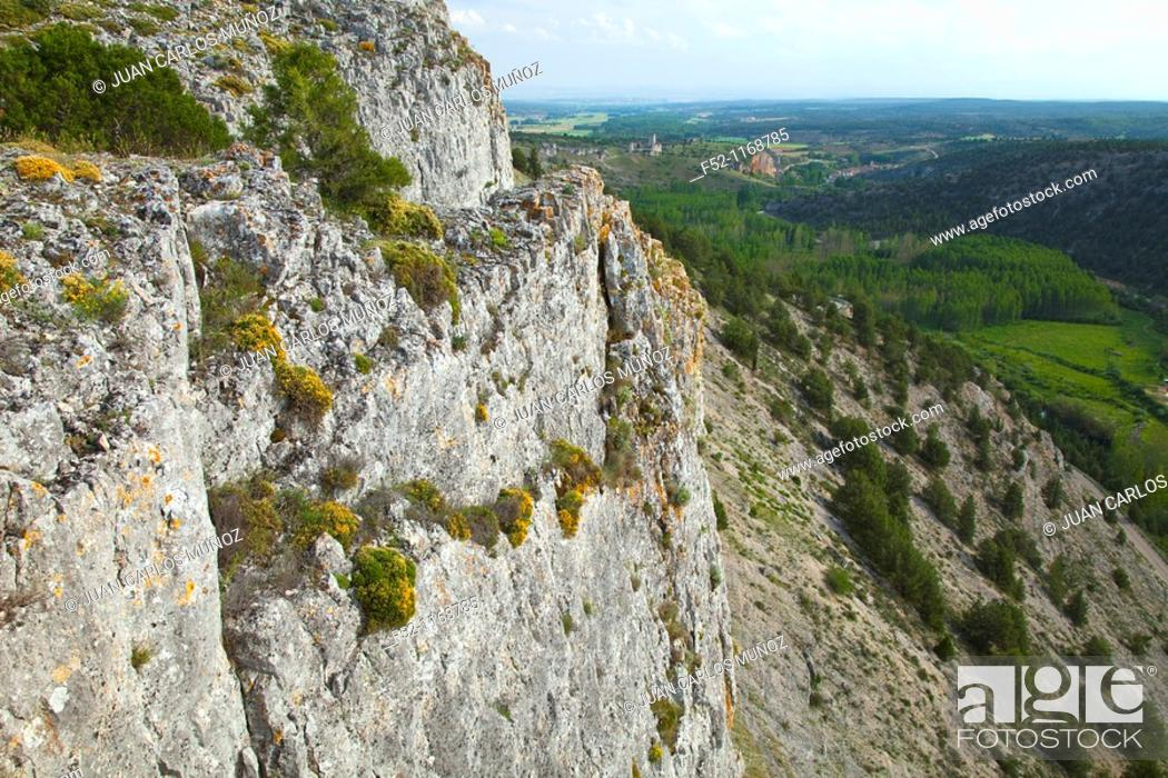 Stock Photo: La Galiana viewpoint, Cañón del Río Lobos Natural Park, Ucero, Soria province, Castilla-Leon, Spain.