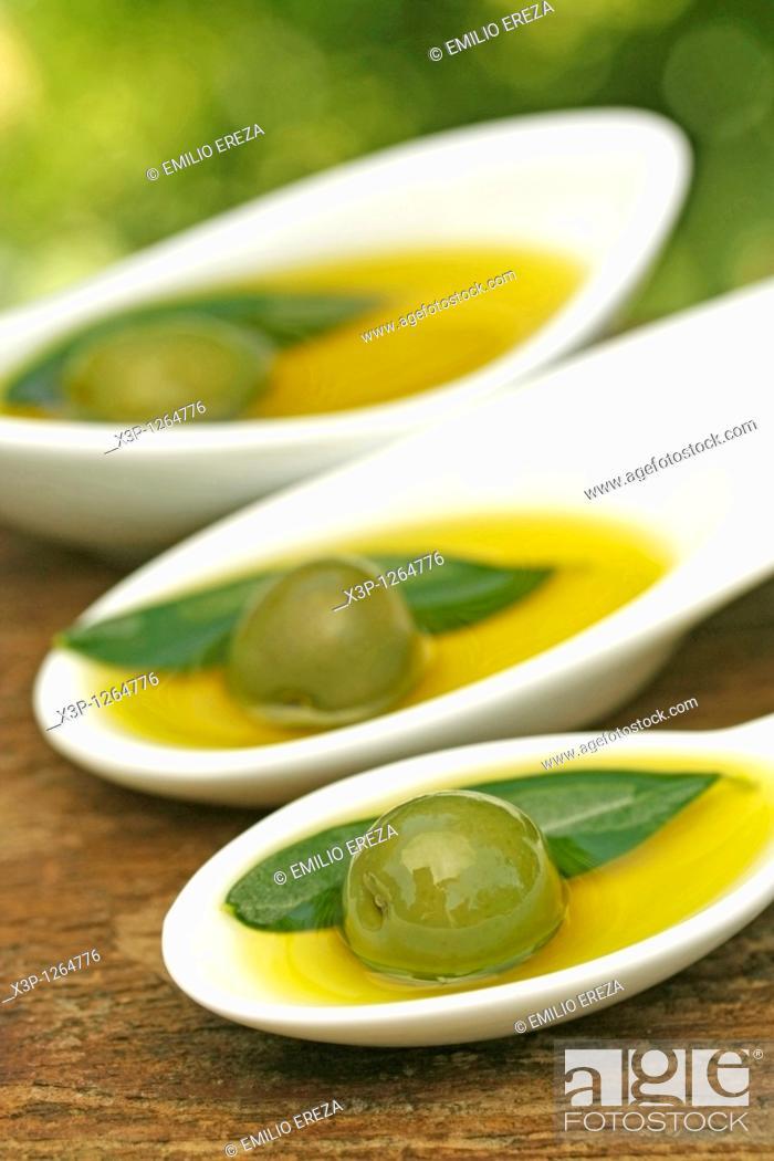 Stock Photo: Olive oil.