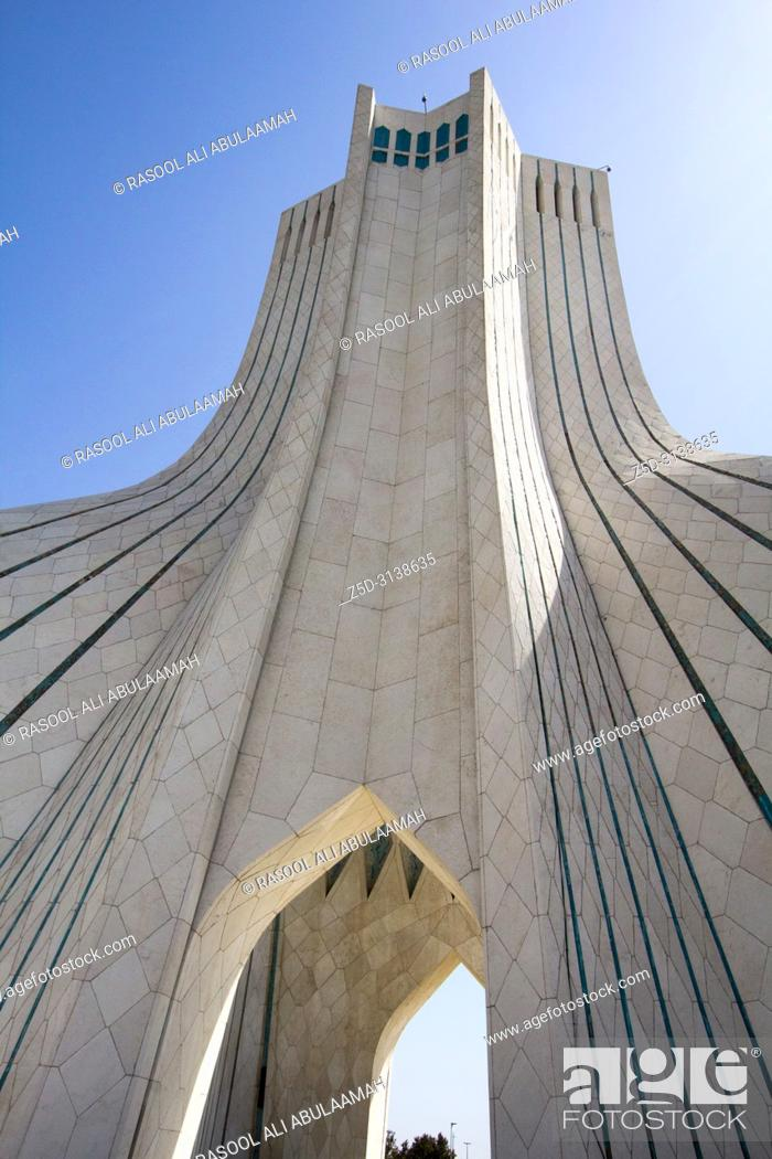 Stock Photo: photo Azadi Tower in the Iranian capital Tehran, It is the most important monument in Iran and also called Statue of Liberty.