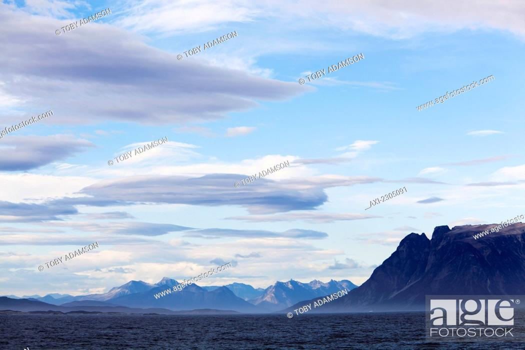 Stock Photo: Denmark, Coastal scenery on west coast; Greenland.
