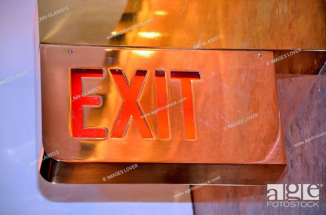Imagen: Exit sign.