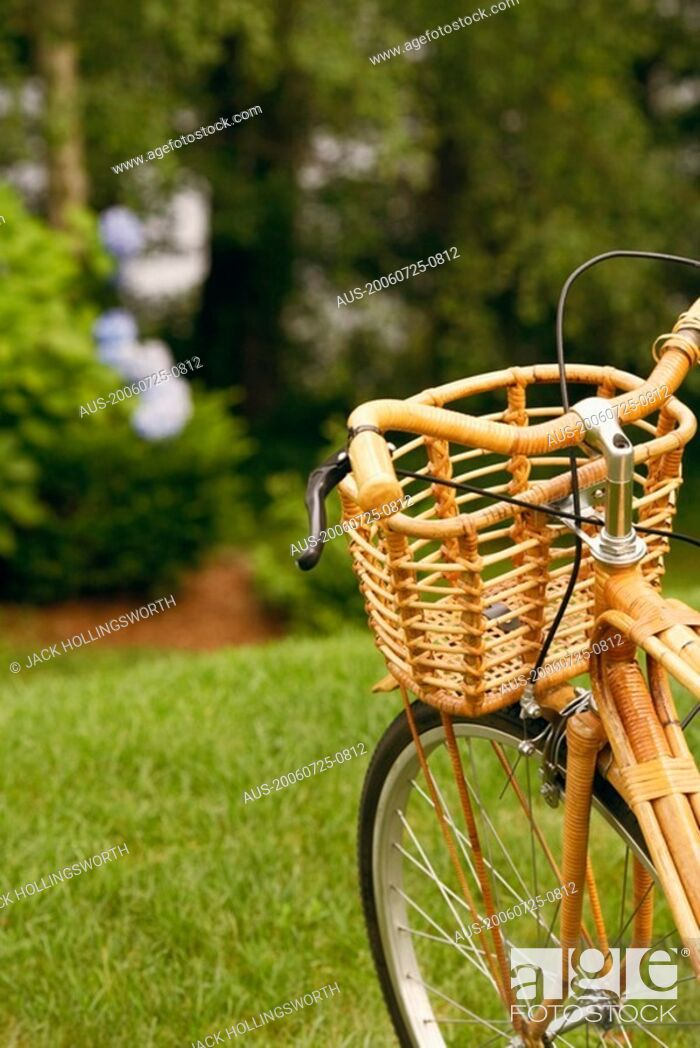 Stock Photo: Close-up of a bicycle in a park.