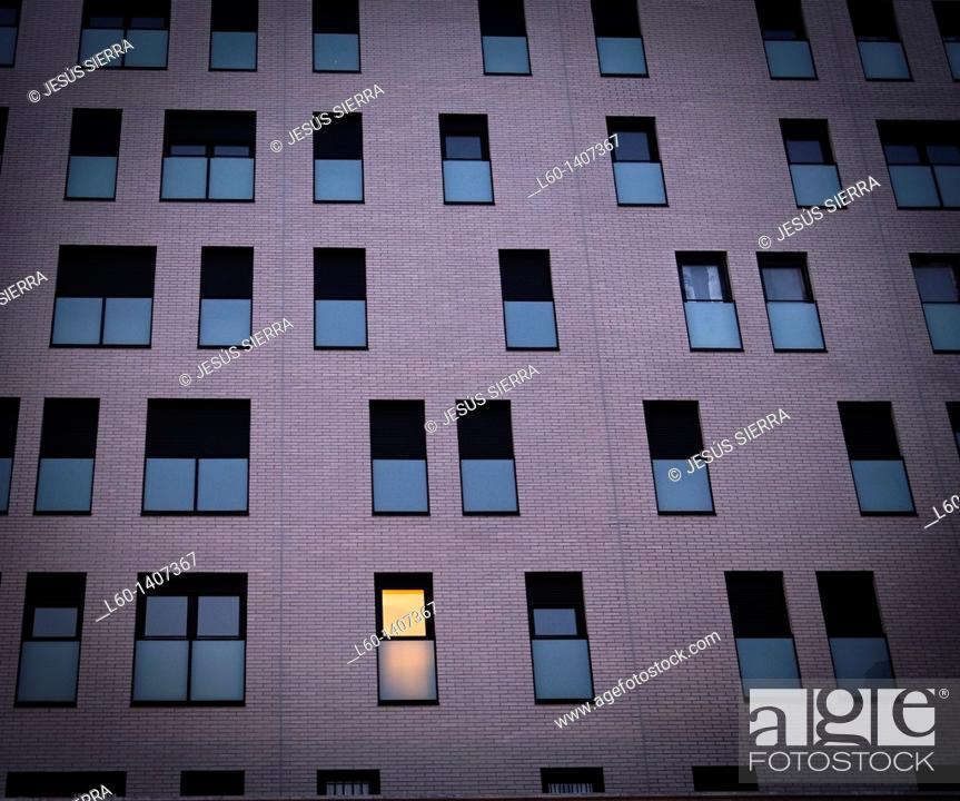 Stock Photo: Building in 'Ensanche Sur' Alcorcon Spain.