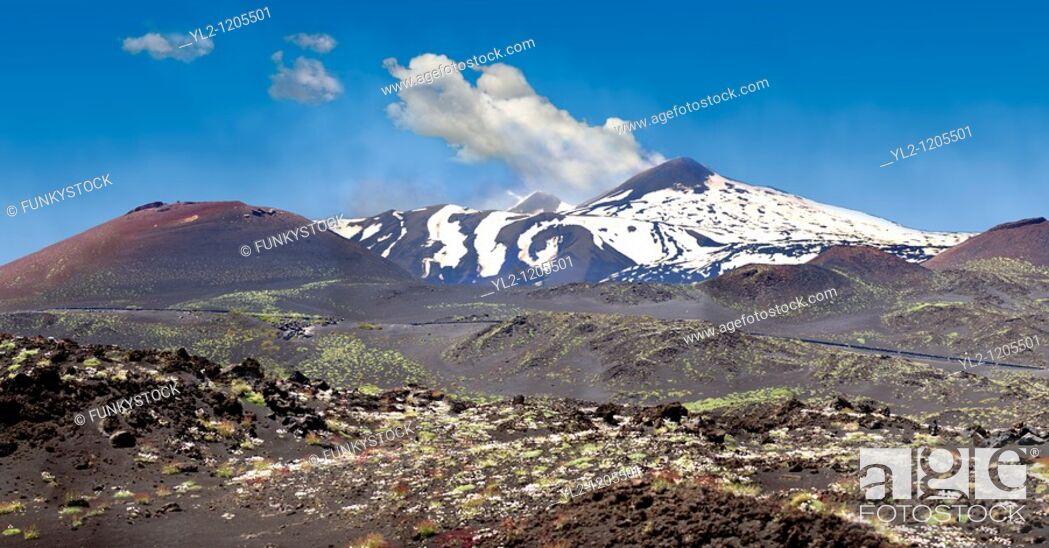 Stock Photo: Mount Etna Sicily.