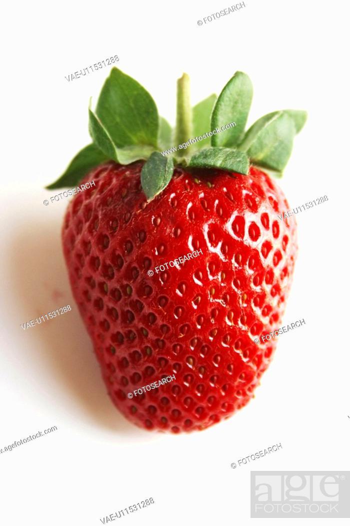 Stock Photo: fruit, strawberry, fresh.