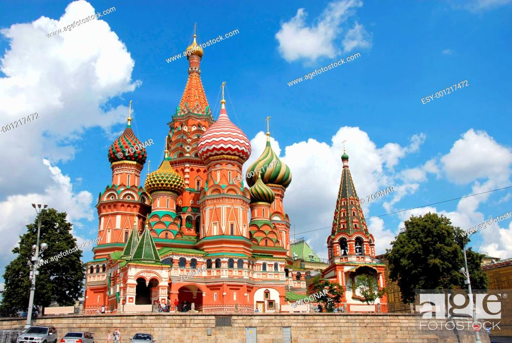 Stock Photo: St.Basil's Cathedral in Moscow.