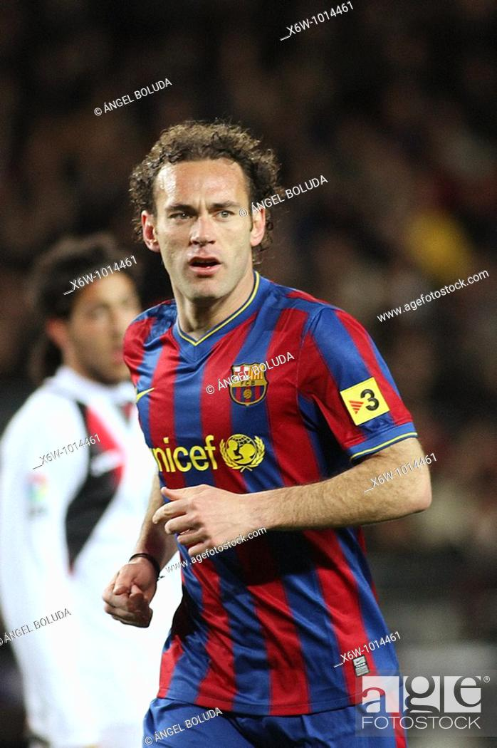 Stock Photo: Barcelona, Camp Nou Stadium, 06/02/2010, Spanish League, FC Barcelona vs. Getafe CF, Gabi Milito.