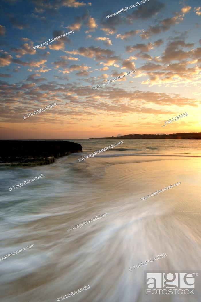 Stock Photo: Comte Beaches Sant Antoni de Portmany Ibiza Spain Illes Balears.