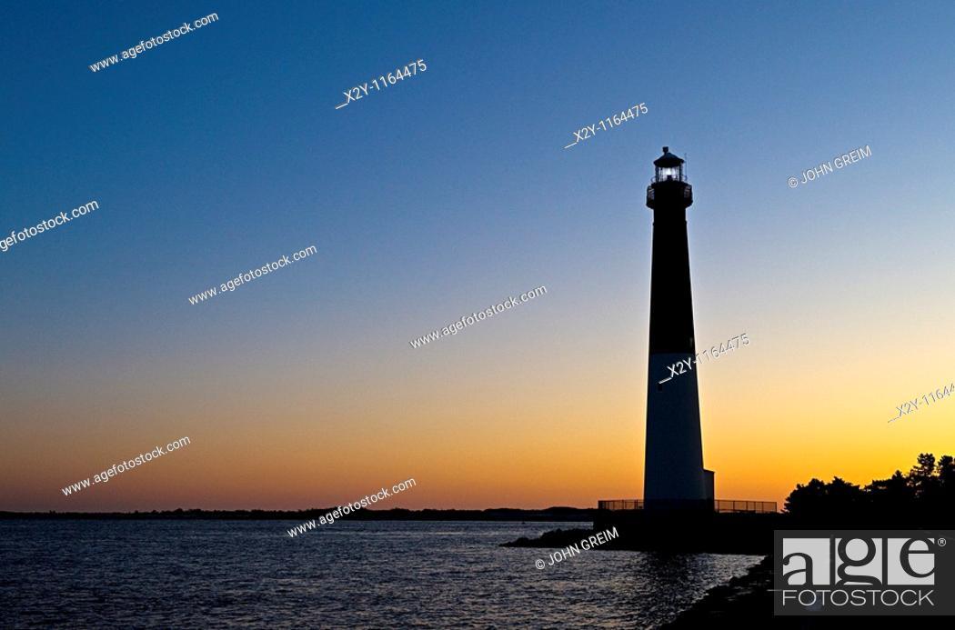 Stock Photo: Barnegat Lighthouse, Long Beach Island, New Jersey, USA.