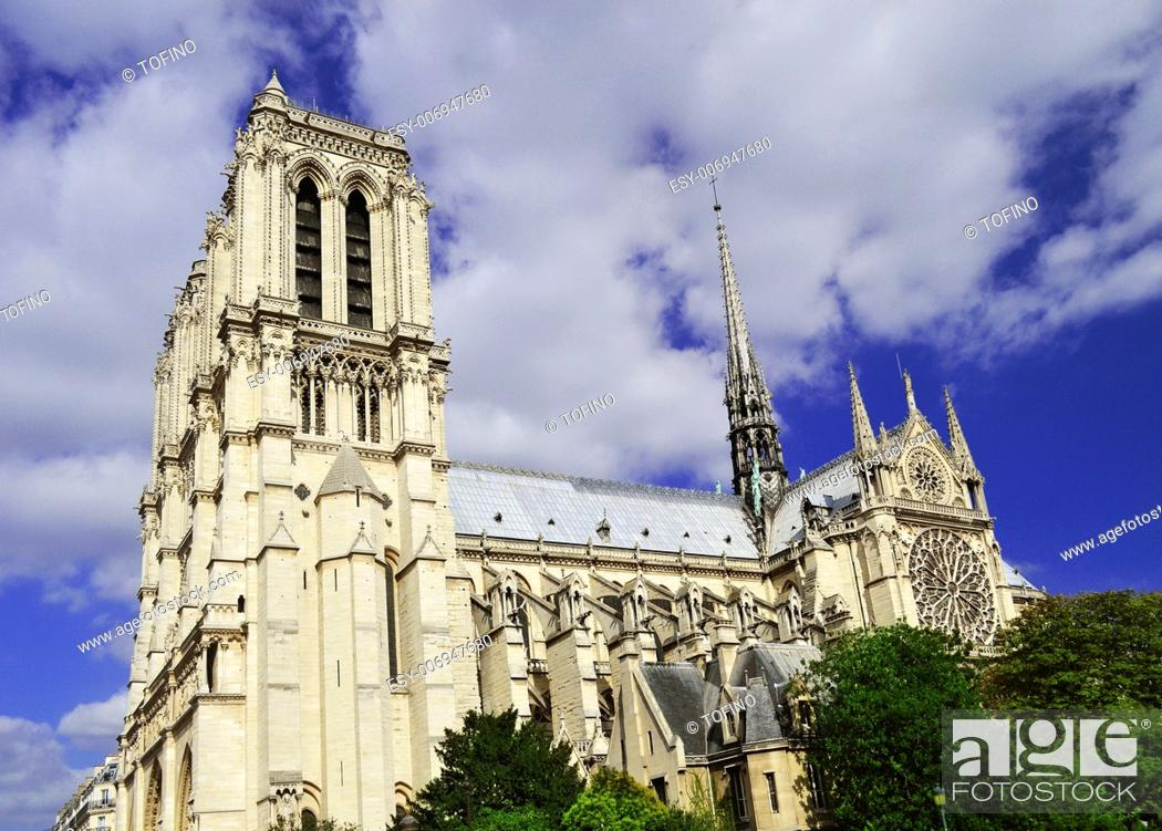 Stock Photo: Notre-Dame Cathedral in Paris, France.