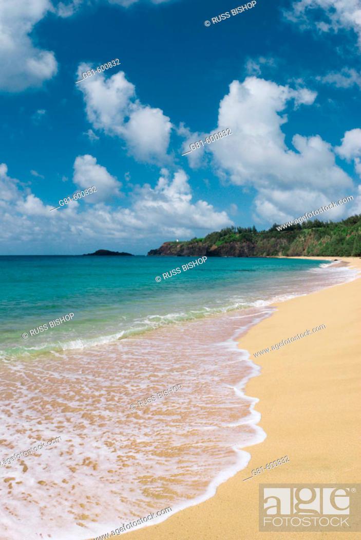 Stock Photo: Secret Beach on the North Shore, Island of Kauai, Hawaii.