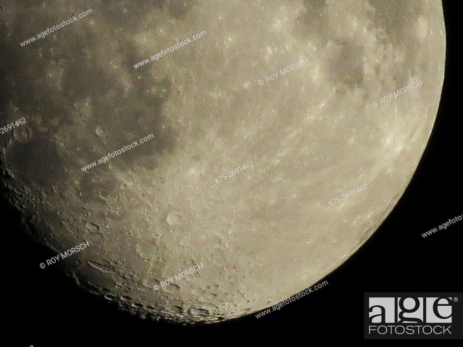 Stock Photo: Craters on the moon.