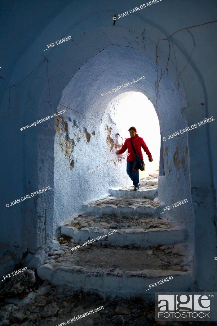 Stock Photo: Pyrgos Village, Santorini Island, Greece.