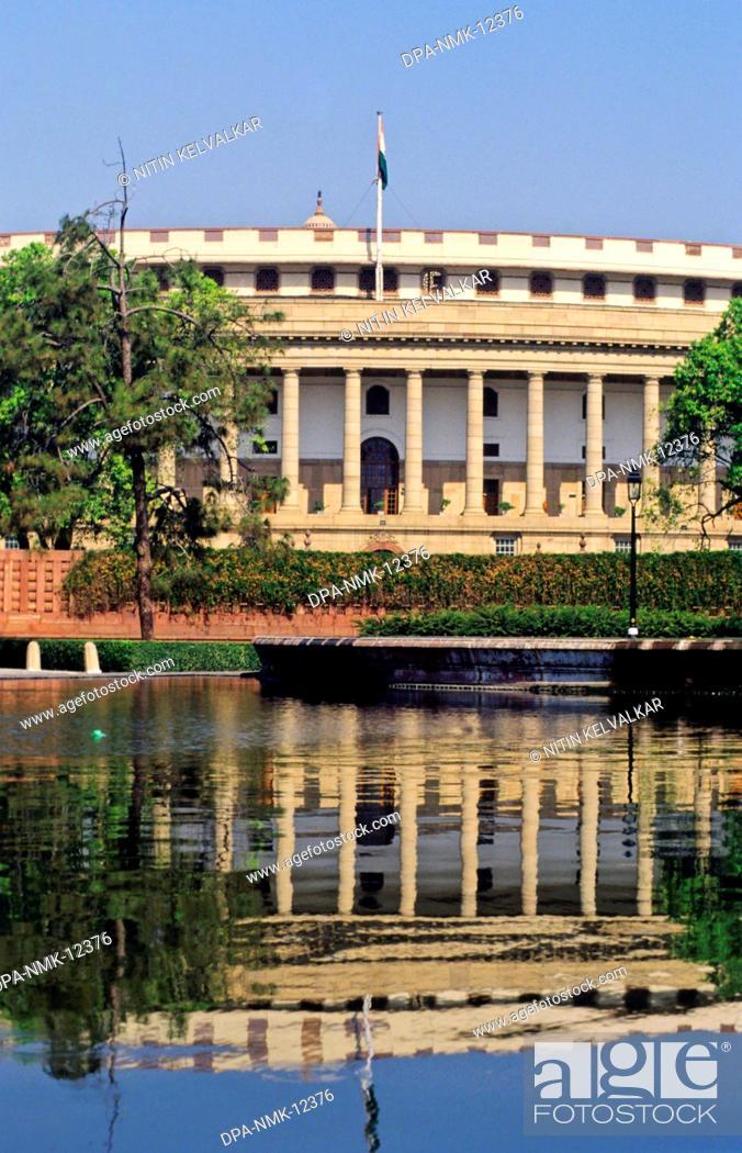 Stock Photo: Parliament House , New Delhi , India.