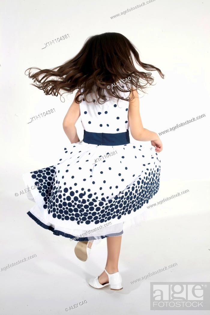 Stock Photo: Little girl, rear view.