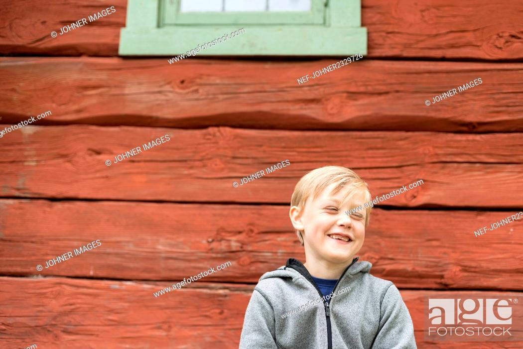 Stock Photo: Boy laughing.