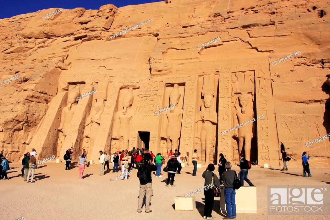 Stock Photo: Nefertari Temple, Abu Simbel, Nubia, Egypt.