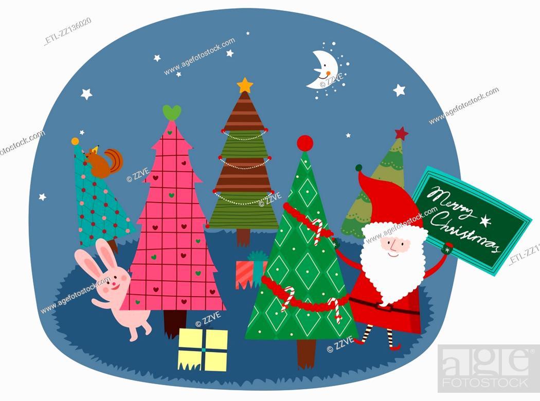 Stock Photo: Santa and Christmas.