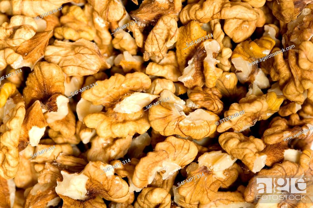Stock Photo: Detail of walnuts.