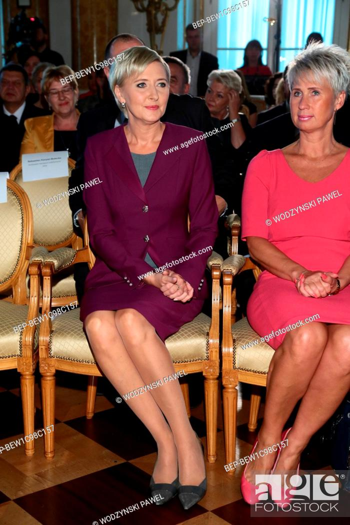 Stock Photo: September 29, 2016. Royal Castle in Warsaw, Poland. Lodolamacze Gala. In the picture: the First Lady Agata Kornhauser-Duda.